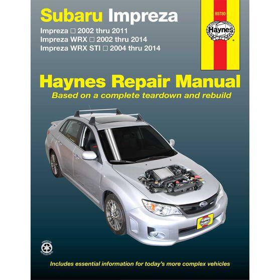 Haynes Car Manual For Subaru Impreza, WRX and WRX STI, 2002-2014 -89780, , scaau_hi-res