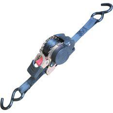 Ratchet Tie Down - Retractable, 3m, 340kg, 2 Pack, , scaau_hi-res