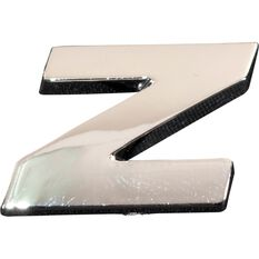 SCA 3D Chrome Badge Letter Z, , scaau_hi-res