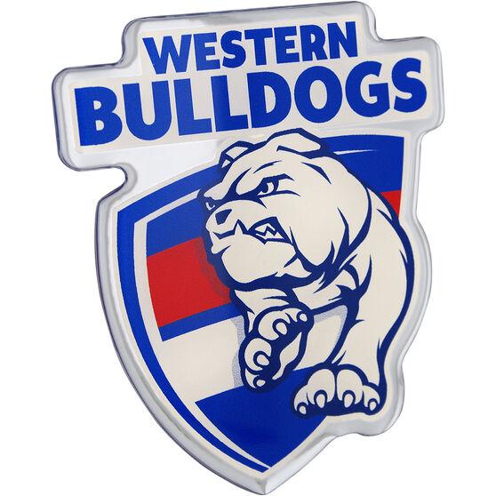 Western Bulldogs AFL Supporter Logo - Lensed Chrome Finish, , scaau_hi-res