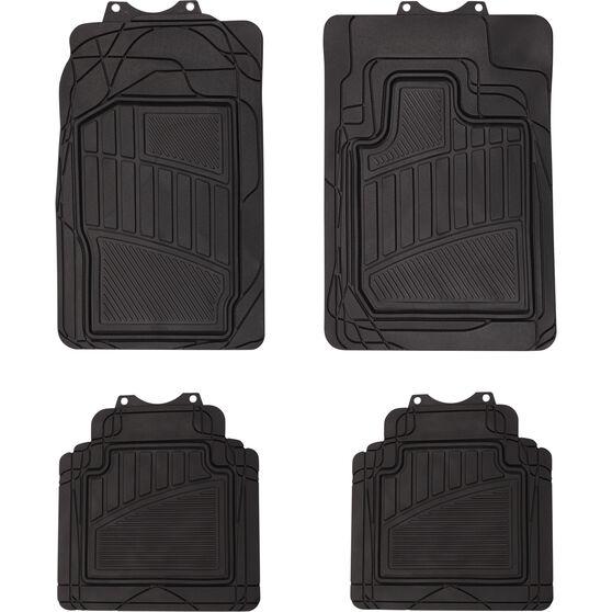 Semi-Tailored Floor Mats 4WD  Black Set of 4, , scaau_hi-res