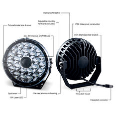 Ridge Ryder 224mm Laser LED Driving Light 100W with harness, , scaau_hi-res