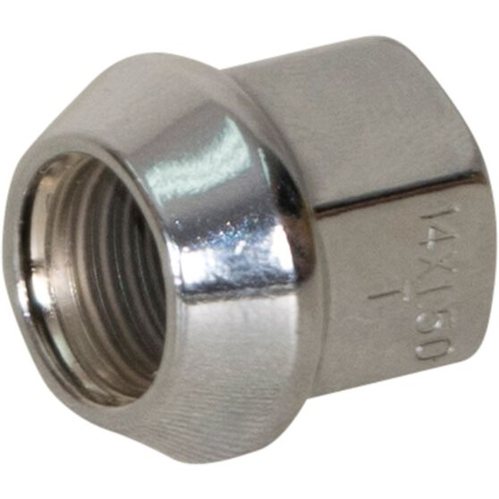 Calibre Wheel Nuts, Tapered Open End, Chrome - OEN14150, 14mm x 1.5mm, , scaau_hi-res
