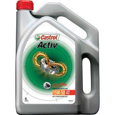 Castrol Activ 4T Motorcycle Oil - 15W-50, 4 Litre, , scaau_hi-res