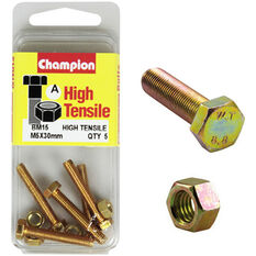 Champion High Tensile Bolts and Nuts - M5 X 30, , scaau_hi-res