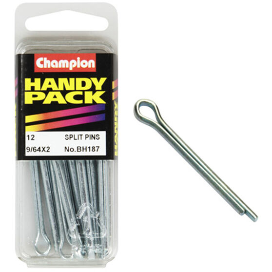 Champion Split Pins - 9 / 64inch X 2inch, BH187, Handy Pack, , scaau_hi-res