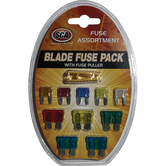SCA Fuse Blade Assorted, Standard and Mini Blade Fuses, 11Pce, , scaau_hi-res