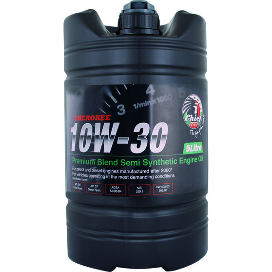 Chief Cherokee Engine Oil - 10W-30 5 Litre, , scaau_hi-res