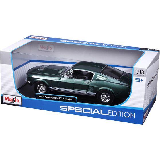 Die Cast Mustang Fastback 1:18 Scale Model, , scaau_hi-res