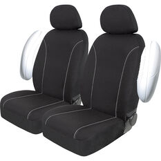 SCA Canvas Seat Covers - Black/Grey, Adjustable Headrests, Size 30, Front Pair, Airbag Compatible, , scaau_hi-res
