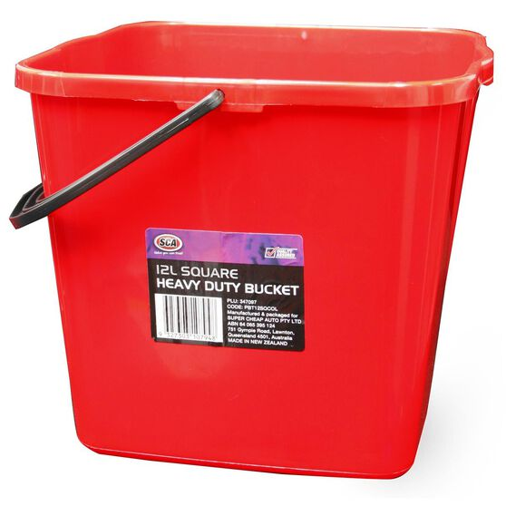 SCA Heavy Duty Square Bucket - 12 Litre, , scaau_hi-res