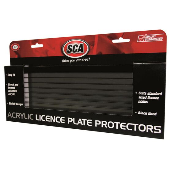 SCA Number Plate Protector - 6 Figure, With Lines, Standard, , scaau_hi-res