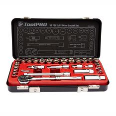 ToolPRO Socket Set - 3 / 8 inch Drive, Metric / Imperial, 30 Piece, , scaau_hi-res