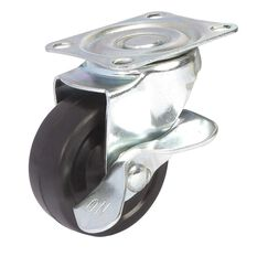 SCA Caster Wheel - 63 x 24mm, Metal Brake, Swivel, , scaau_hi-res