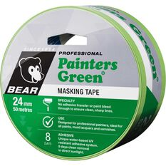 Norton Painters Masking Tape - Green, 24mm x 50m, , scaau_hi-res