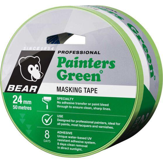 Norton Painters Masking Tape - Green, 24mm x 50m, , scaau_hi-res