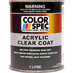 ColorSpec Paint - Acrylic, Clear Coat, 1 Litre, , scaau_hi-res
