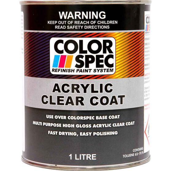 ColorSpec Paint - Acrylic, Clear Coat, 1 Litre, , scaau_hi-res