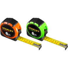 Stanley Hi Visibility Tape Measure, 8m, , scaau_hi-res