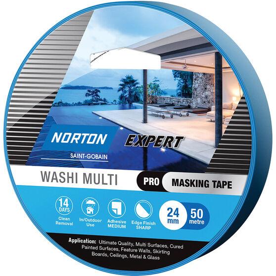 Norton Expert 14 Day Masking Tape - 24mm x 50m, , scaau_hi-res