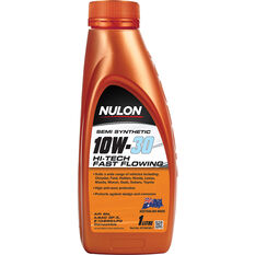 Nulon Semi Synthetic Hi-Tech Fast Flowing Engine Oil 10W-30 1 Litre, , scaau_hi-res