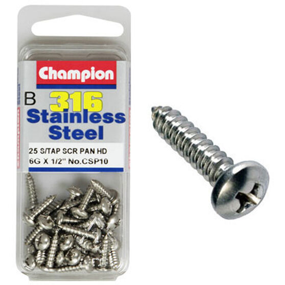 Champion Self Tapping Screw - 10G X 1inch / 2inch 10G x 1/2 10g, , scaau_hi-res