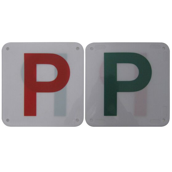 SCA P Plate - Plastic, Red and Green, 2 Pack, , scaau_hi-res