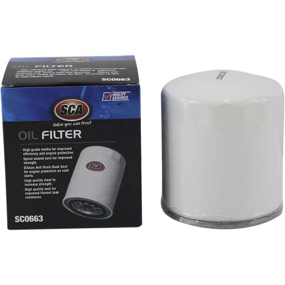 SCA Oil Filter SCO663 (Interchangeable with Z663), , scaau_hi-res