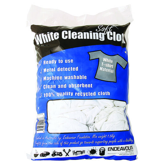 Endeavour White Cleaning Cloths - 1.5kg, , scaau_hi-res