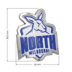 North Melbourne AFL Supporter Logo - 3D Chrome Finish, , scaau_hi-res