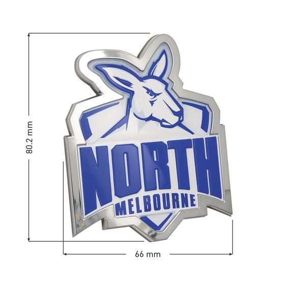 North Melbourne AFL Supporter Logo - 3D Chrome Finish, , scaau_hi-res