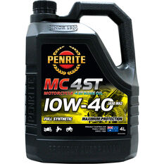 Penrite MC-4 Synthetic Motorcycle Oil - 10W-40 , 4 Litre, , scaau_hi-res