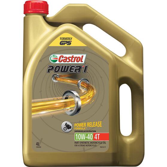 Castrol POWER1 4T Motorcycle Oil 10W-40 4 Litre, , scaau_hi-res