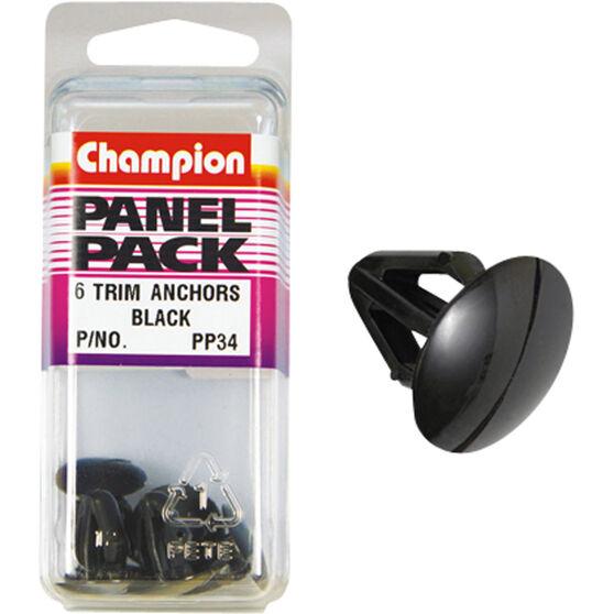 Champion Trim Clips - Black, Panel Pack, , scaau_hi-res