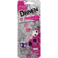 Driven Girl Air Freshener Hearts & Skulls Necklace Charm, , scaau_hi-res