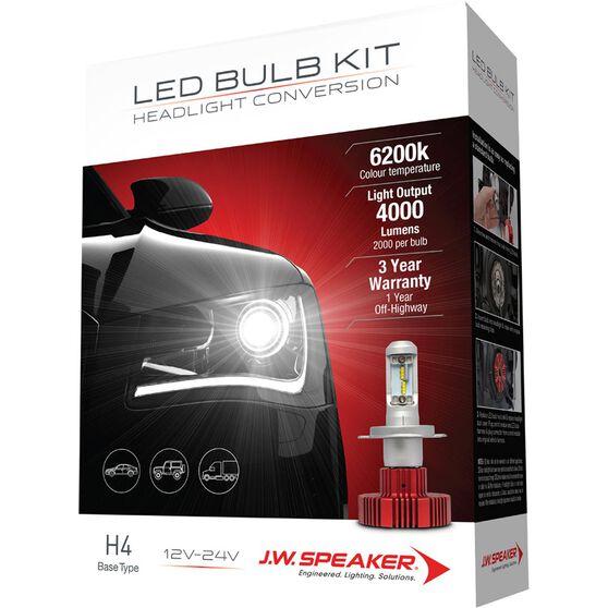 J W  Speaker Headlight Conversion Kit - LED H4