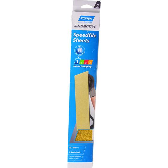 Norton Speed File Sheet - 36 Grit, 5 Pack, , scaau_hi-res