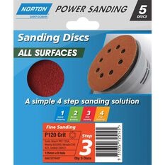 Norton Disc Sander - 120 Grit, 125mm, , scaau_hi-res