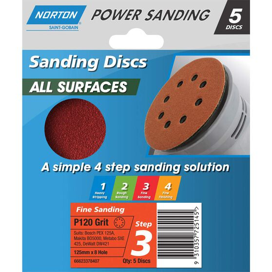 Norton Disc Sander 120 Grit 125mm, , scaau_hi-res