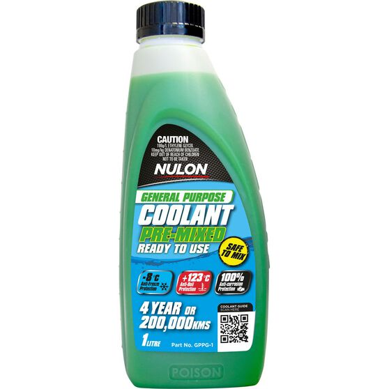Nulon General Purpose Premix Coolant 1 Litre, , scaau_hi-res