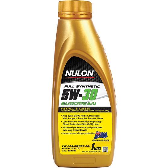 Nulon Full Synthetic European Engine Oil 5W-30 1 Litre, , scaau_hi-res
