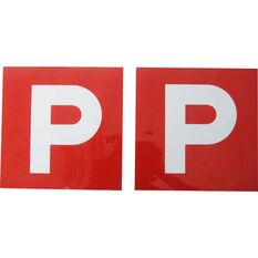 P Plate - Magnetic, Red VIC & WA, 2 Pack, , scaau_hi-res