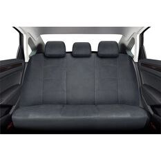Cloud Premium Suede Seat Covers - Charcoal, Adjustable Headrests, Size 06H, Rear Seat, , scaau_hi-res