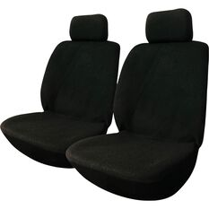 SCA Polypropylene Seat Covers -  Black, Adjustable Headrests, Size 30, Front Pair, , scaau_hi-res