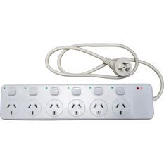 SCA Powerboard w / Switches - 6 Outlet, , scaau_hi-res
