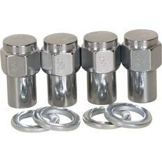 Calibre Wheel Nuts, Shank, Chrome - MN12, 1 / 2inch, , scaau_hi-res