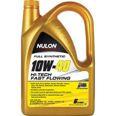 Nulon Full Synthetic Hi-Tech Fast Flowing Engine Oil 10W-40 6 Litre, , scaau_hi-res