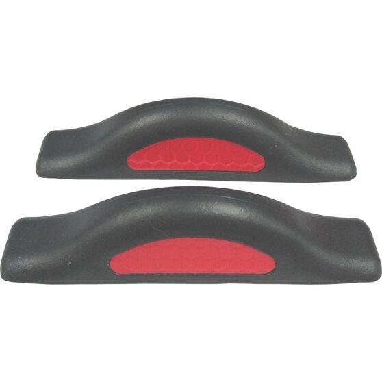 SCA Door Protectors - Black With Red Reflectors, 2 Pack, , scaau_hi-res