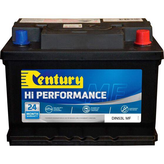 Century Car Battery - DIN53LMF, 500CCA