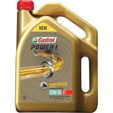 Castrol POWER1 4T Motorcycle Oil 10W-30 4 Litre, , scaau_hi-res